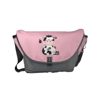 Cute Baby Cow Cartoon Messenger Bag