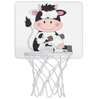 Cute Baby Cow Cartoon Mini Basketball Hoop