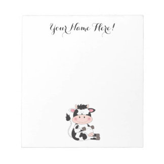 Cute Baby Cow Cartoon Notepad