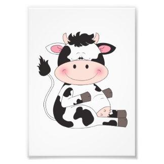 Cute Baby Cow Cartoon Photo Art