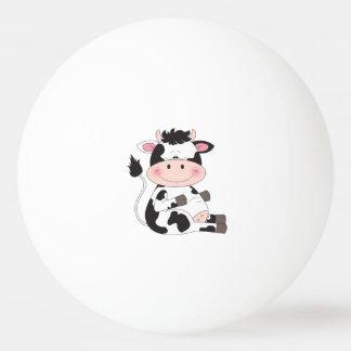 Cute Baby Cow Cartoon Ping Pong Ball