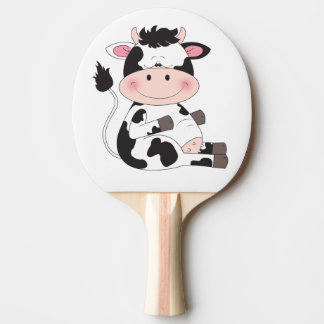 Cute Baby Cow Cartoon Ping Pong Paddle