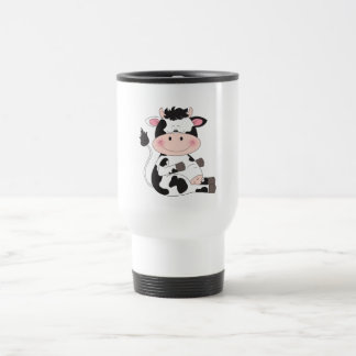 Cute Baby Cow Cartoon Travel Mug