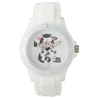 Cute Baby Cow Cartoon Watch
