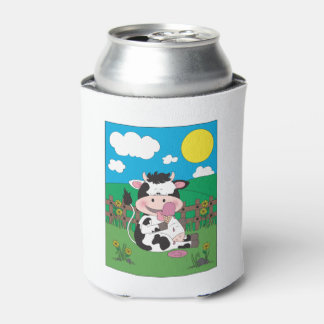 Cute Baby Cow Cartoon With His Favorite Treat