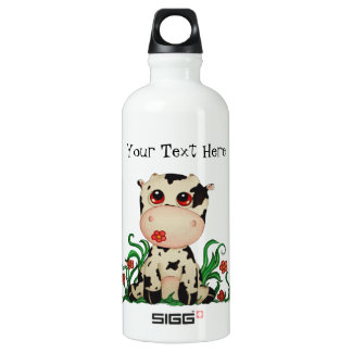 Cute Baby Cow Customizable SIGG Traveller 0.6L Water Bottle