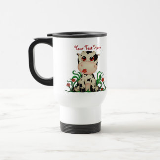 Cute Baby Cow Customizable Travel Mug
