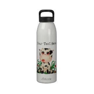 Cute Baby Cow Customizable Water Bottle