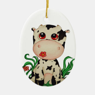 Cute Baby Cow Ornament