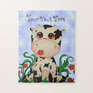 Cute Baby Cow Puzzle