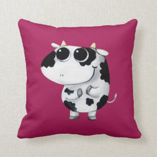 Cute Baby Cow Throw Cushion