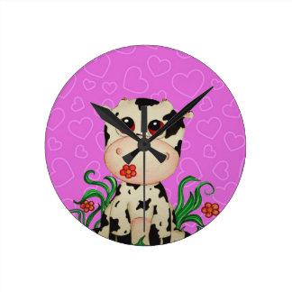 Cute Baby Cow Wall Clock
