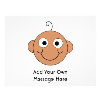 Cute Baby. Custom Text. Personalized Flyer