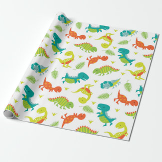 Cute Baby Dinosaur Wrapping Paper