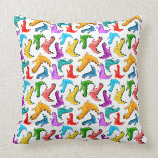 Cute baby dinosaurs doodle picture cushion