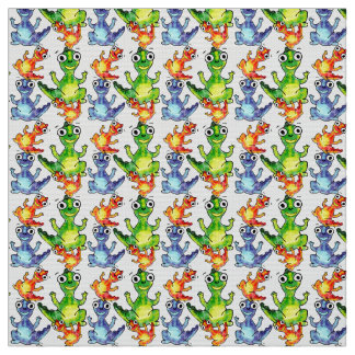 Cute baby dinosaurs doodle picture fabric