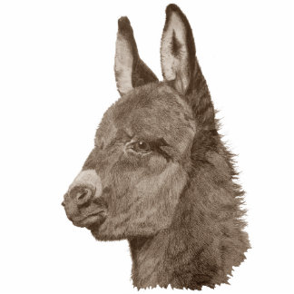 Cute baby donkey drawing realist art sculpture pin photo sculpture badge