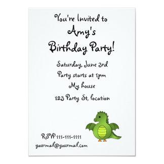 Cute baby dragon 11 cm x 16 cm invitation card