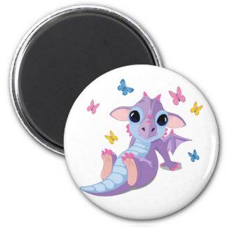 Cute Baby Dragon 6 Cm Round Magnet