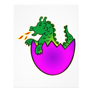 Cute Baby Dragon In Egg 21.5 Cm X 28 Cm Flyer