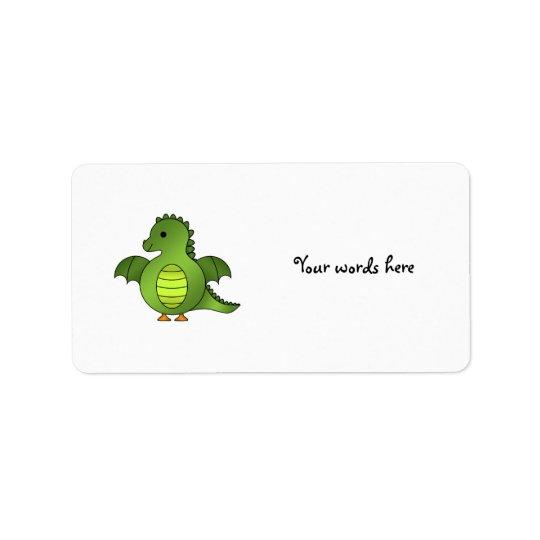Cute baby dragon label