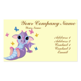 Cute Baby Dragon Pack Of Standard Business Cards
