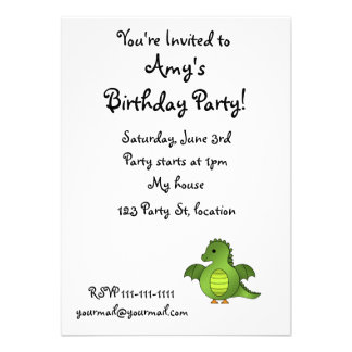 Cute baby dragon personalized announcement