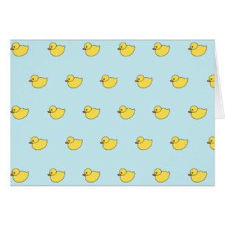 Cute Baby Duck Duckies Shower Thank You Card