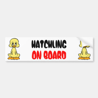 Cute Baby Duck Hatchling On Board Bumper Sticker
