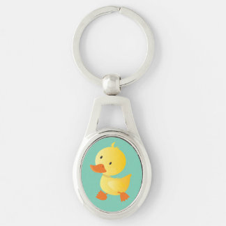 Cute Baby Duck Key Ring