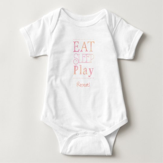 Cute Baby Eat Sleep Play Funny Kids Shirt