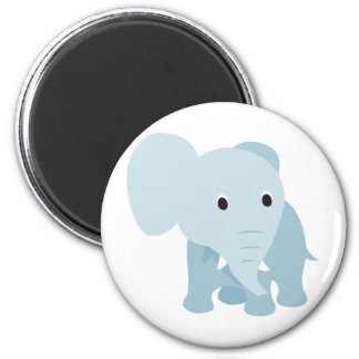 Cute Baby Elephant 6 Cm Round Magnet