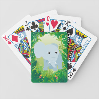 Cute Baby Elephant Bicycle Playing Cards