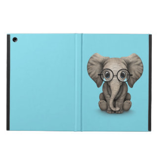 Cute Baby Elephant Calf with Reading Glasses Case For iPad Air