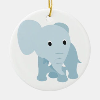 Cute Baby Elephant Christmas Ornament