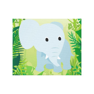 Cute Baby Elephant Gallery Wrapped Canvas