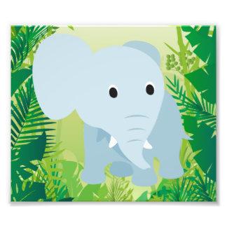Cute Baby Elephant Photo Print