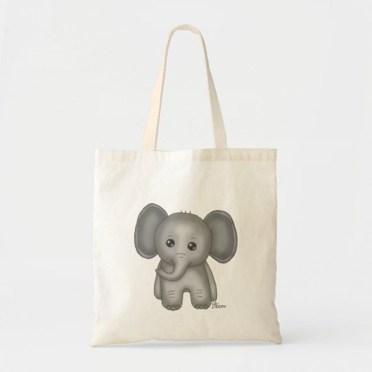 Cute Baby Elephant Tote Bag