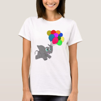 Cute Baby Elephant with Balloons T-Shirt