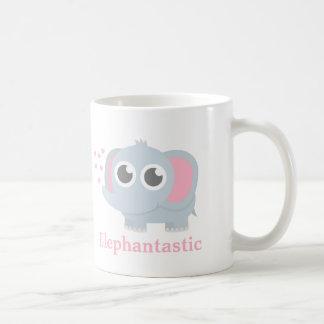 Cute Baby Elephant With Love For Girls Basic White Mug