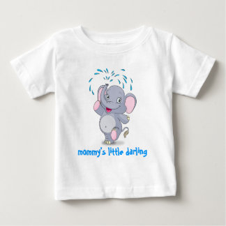 Cute baby elephant with mommy's little darling shirt
