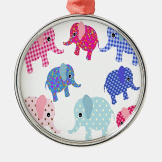Cute Baby Elephants Christmas Ornament