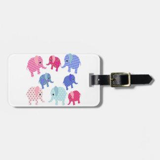 Cute Baby Elephants Luggage Tag