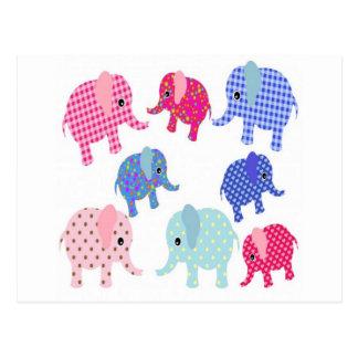 Cute Baby Elephants Postcard