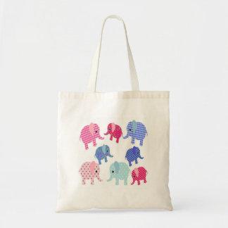 Cute Baby Elephants Budget Tote Bag
