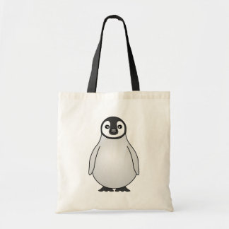 Cute Baby Emperor Penguin Cartoon Tote Bag