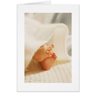 Cute Baby Feet Little Baby Feet Wrapped Blanket Card