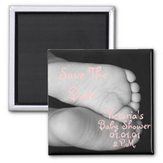 Cute Baby Feet Square Magnet