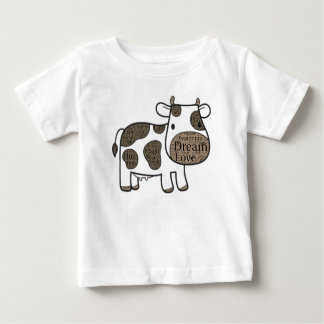 Cute Baby Fine Jersey T-Shirt with cow