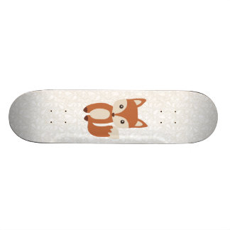 Cute Baby Fox 21.6 Cm Old School Skateboard Deck
